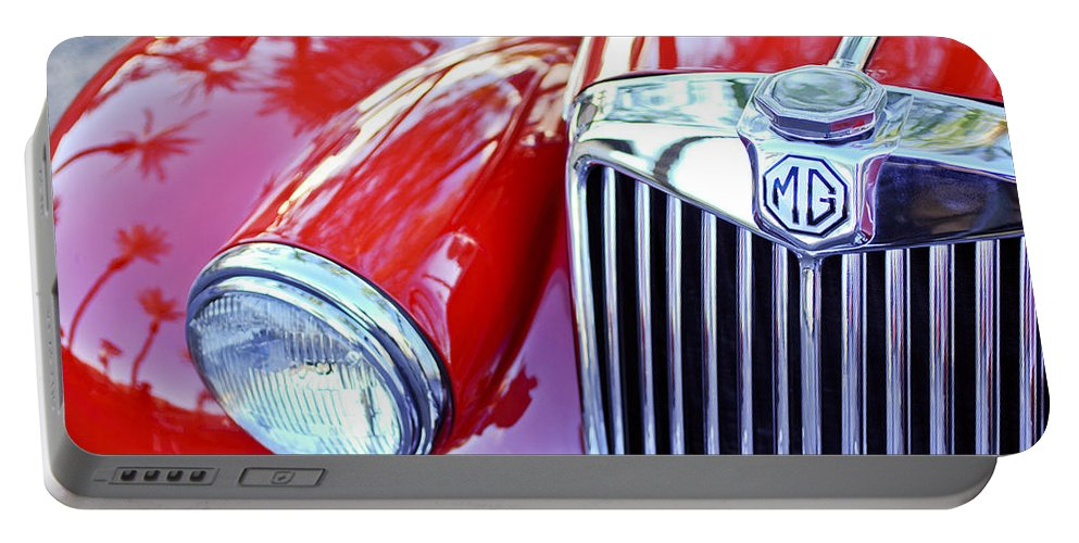 1955 Mg Tf 1500 Portable Battery Charger featuring the photograph 1955 Mg Tf 1500 Grille by Jill Reger