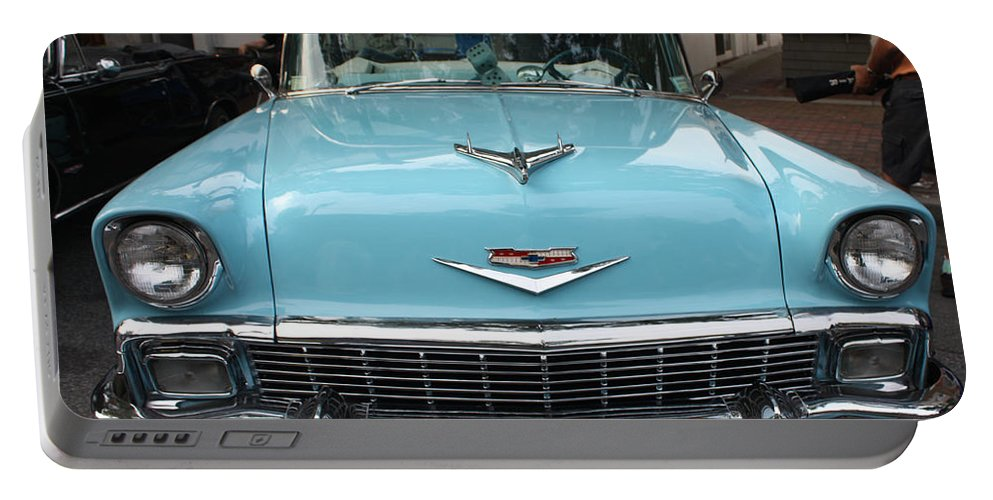 1956 Chevy Bel-air Portable Battery Charger featuring the photograph 1956 Chevy Bel-air by John Telfer