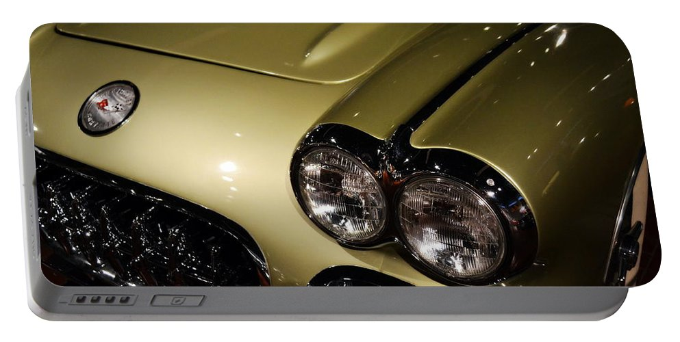 Corvette Portable Battery Charger featuring the photograph 1958 Fancy Free Corvette J58s by Michelle Calkins