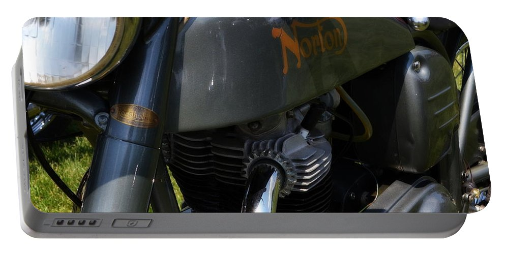 Power Portable Battery Charger featuring the photograph 1958 Norton Dominator by Michelle Calkins