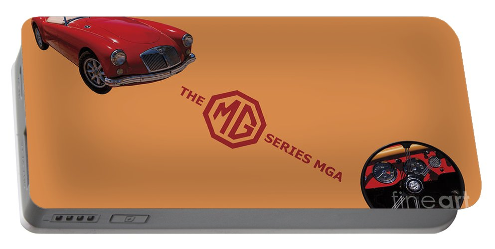 1959 Portable Battery Charger featuring the photograph 1959 Mg Series Mga by David Millenheft