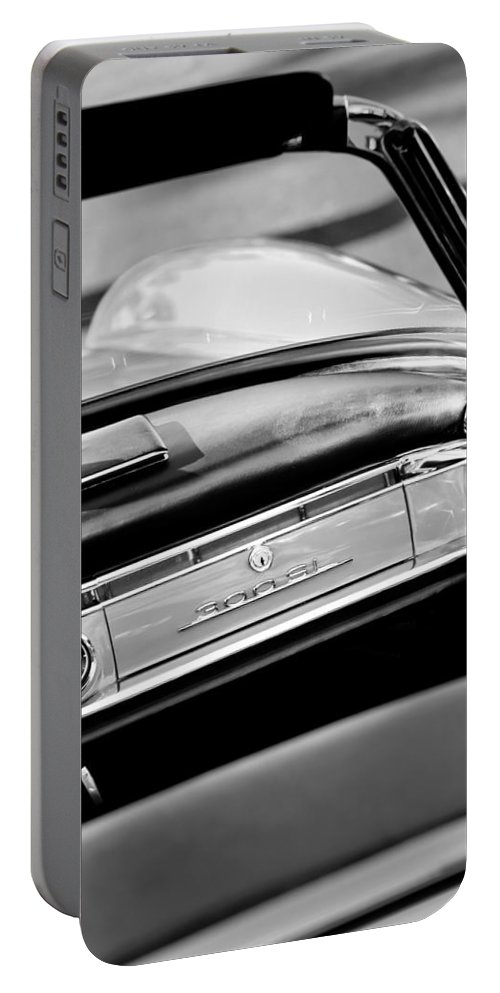 1961 Mercedes-benz 300 Sl Roadster Dashboard Emblem Portable Battery Charger featuring the photograph 1961 Mercedes-benz 300 Sl Roadster Dashboard Emblem by Jill Reger