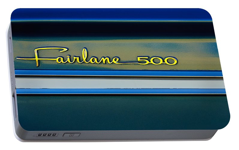 1964 Ford Fairlane 500 Emblem Portable Battery Charger