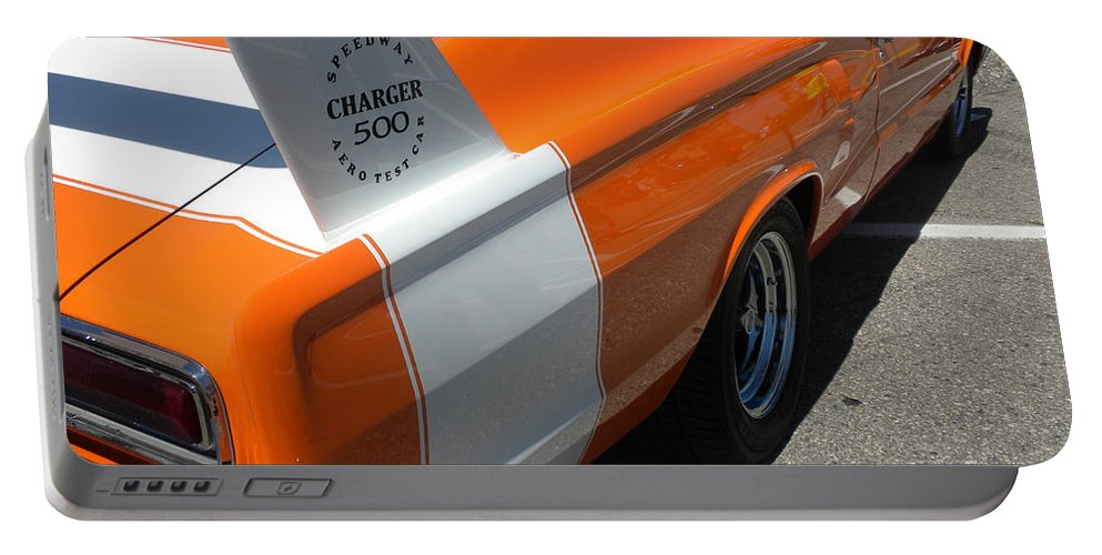 Chrysler Portable Battery Charger featuring the photograph 1967 Dodge Charger 02 by Thomas Woolworth