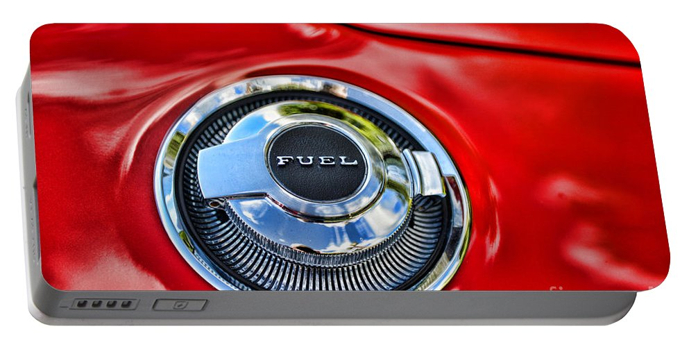 Paul Ward Portable Battery Charger featuring the photograph 1969 Charger Fuel Cap by Paul Ward