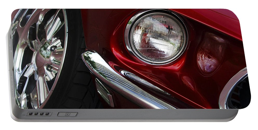 Transportation Portable Battery Charger featuring the photograph 1969 Ford Mustang Mach 1 Front by Jill Reger