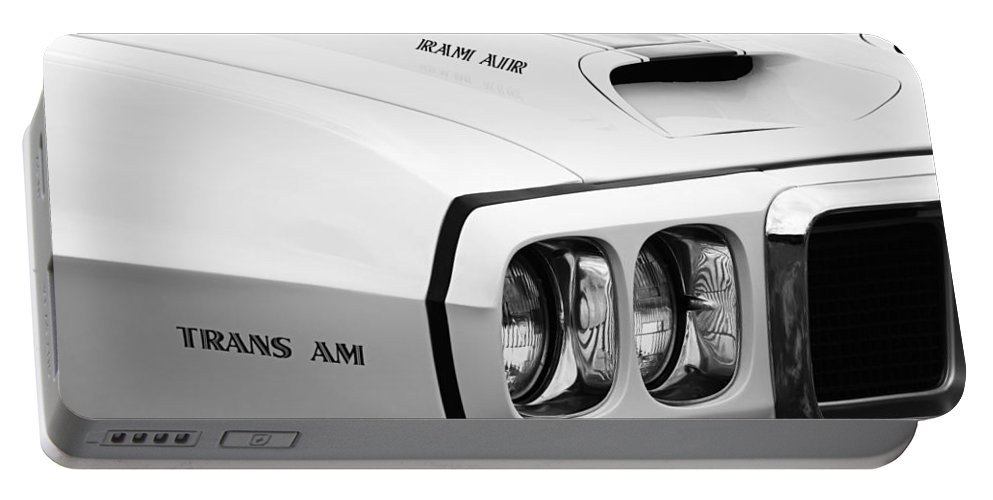 1969 Pontiac Trans Am Portable Battery Charger featuring the photograph 1969 Pontiac Trans Am by Jill Reger