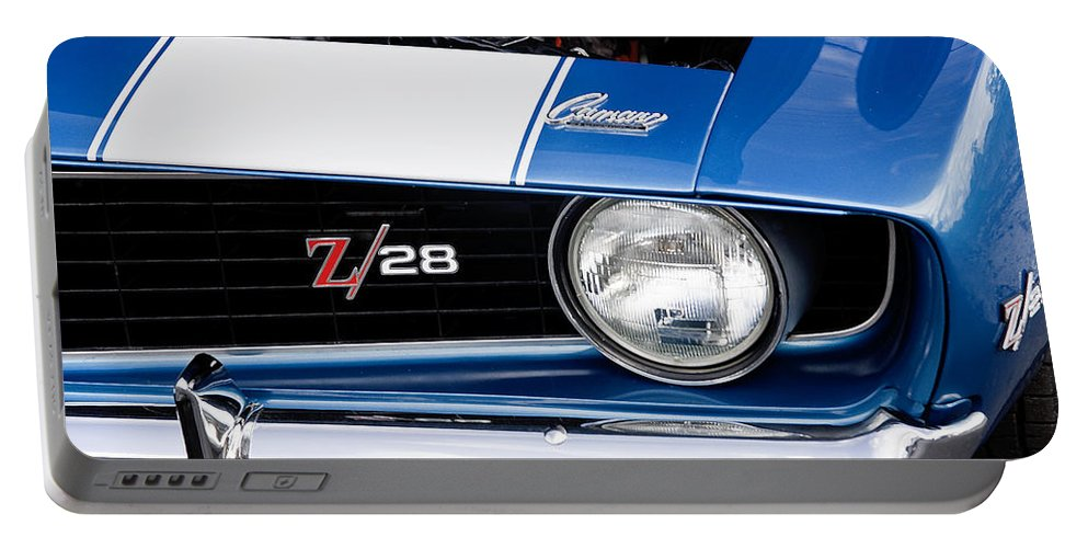 Camaro Portable Battery Charger featuring the photograph 1969 Z28 Camaro Real Muscle Car by Rich Franco