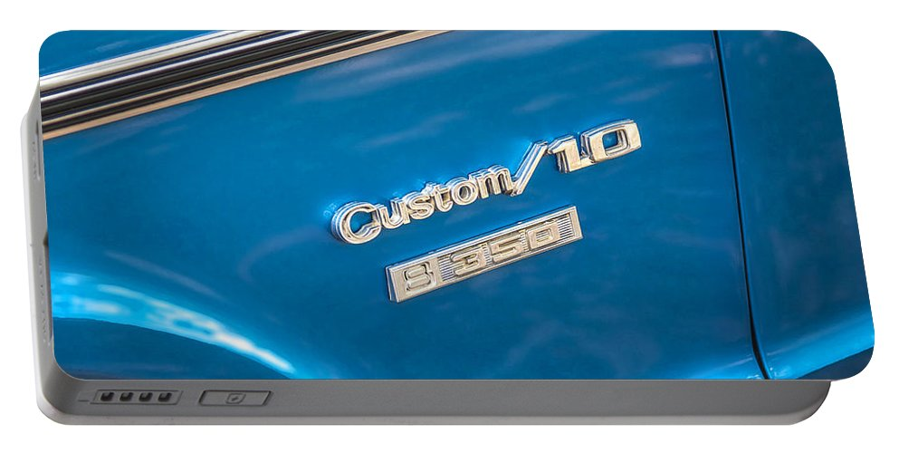 1970 Chevy Portable Battery Charger featuring the photograph 1970 Chevy Custom 350 Truck by Rich Franco