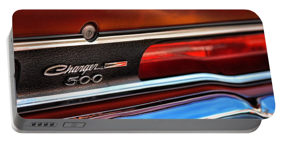 Portable Battery Charger featuring the photograph 1970 Dodge Charger 500 by Gordon Dean II