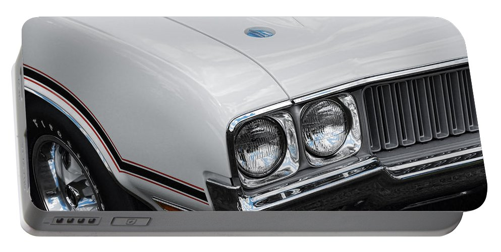 Oldsmobile Portable Battery Charger featuring the photograph 1970 Olds Cutlass 442 by Gordon Dean II