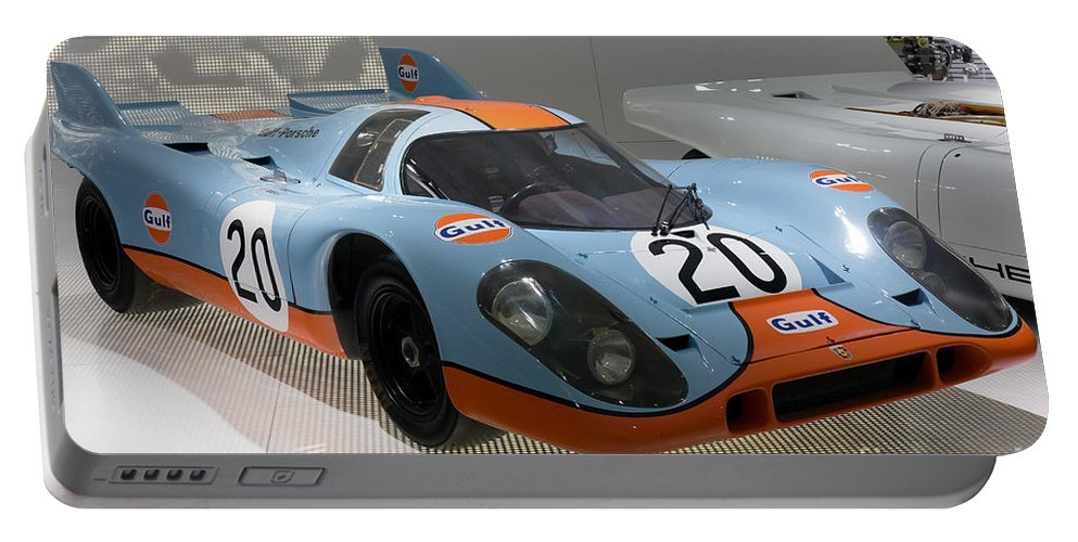 3d Portable Battery Charger featuring the photograph 1970 Porsche 917 Kh Coupe by Paul Fearn