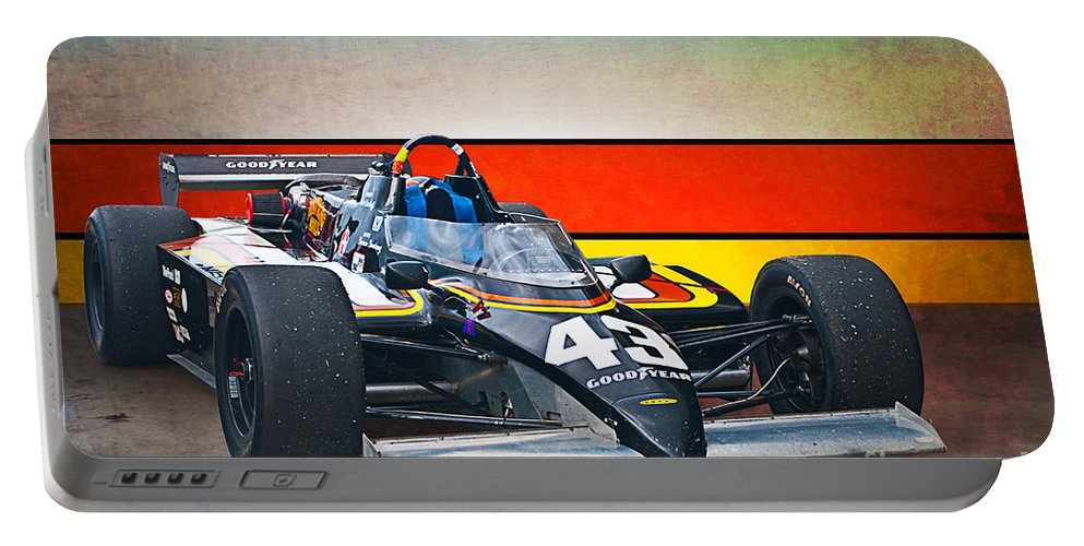 1983 Portable Battery Charger featuring the photograph 1983 Lola T700 Indy Car by Stuart Row