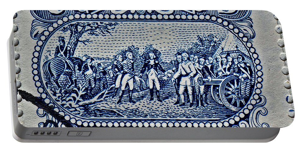 1994 Portable Battery Charger featuring the photograph 1994 Battle Of Saratoga Stamp by Bill Owen