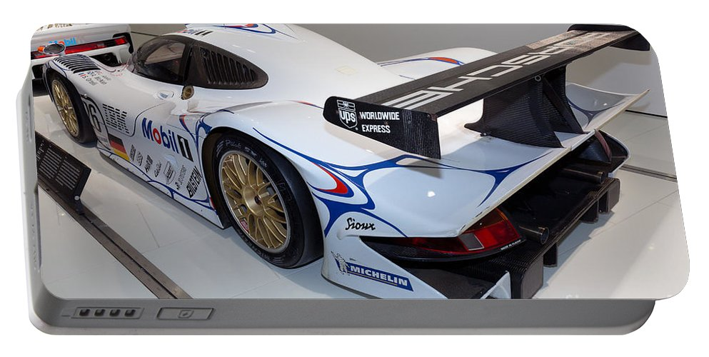 3d Portable Battery Charger featuring the photograph 1998 Porsche 911 Gt1 by Paul Fearn