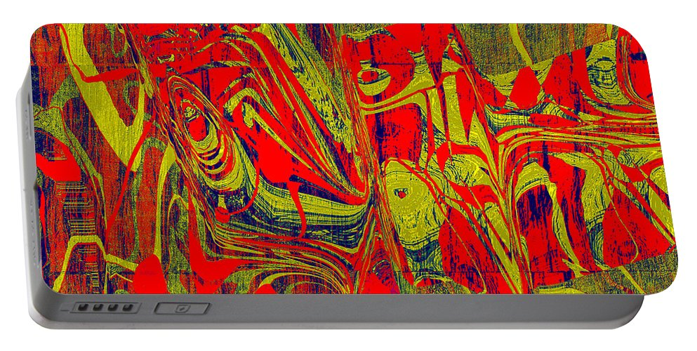 Abstract Portable Battery Charger featuring the digital art 0477 Abstract Thought by Chowdary V Arikatla