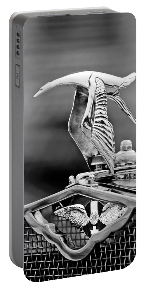 1930 Hispano-suiza H6c Kellner Transformable Hood Ornament Portable Battery Charger featuring the photograph 1930 Hispano-suiza H6c Kellner Transformable Hood Ornament by Jill Reger