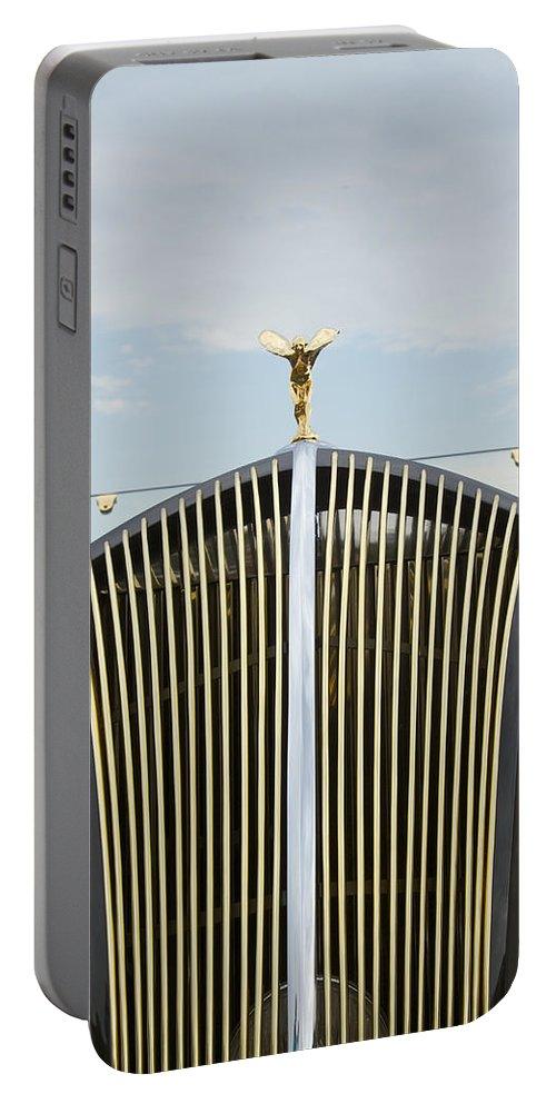 Antique Portable Battery Charger featuring the photograph 1937 47 Rolls Royce by Jack R Perry