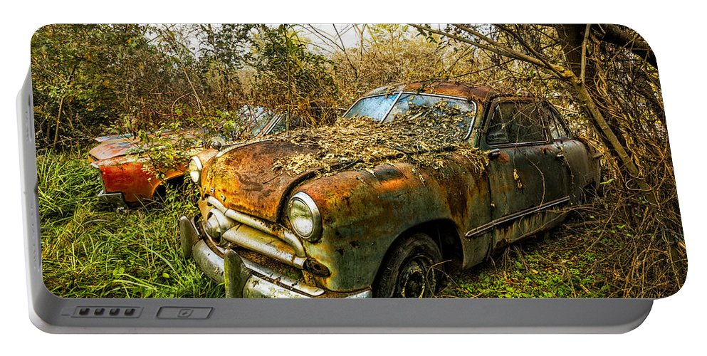 1940s Portable Battery Charger featuring the photograph 1949 Ford by Debra and Dave Vanderlaan