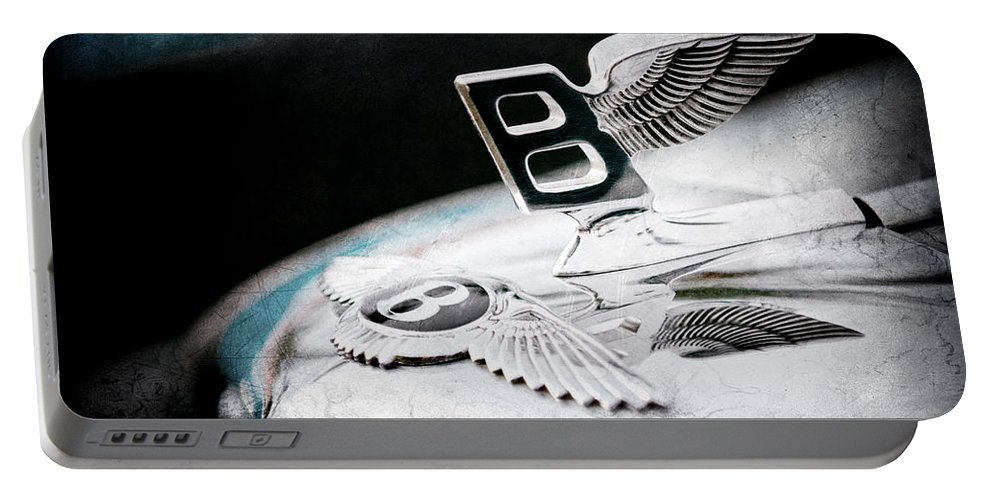 1957 Bentley S-type Hood Ornament Portable Battery Charger featuring the photograph 1957 Bentley S-type Hood Ornament - Emblem by Jill Reger