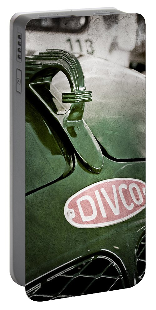 1965 Divco Milk Truck Hood Ornament Portable Battery Charger featuring the photograph 1965 Divco Milk Truck Hood Ornament by Jill Reger