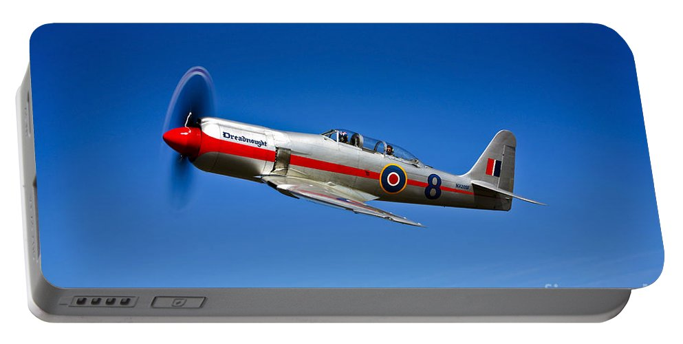 Horizontal Portable Battery Charger featuring the photograph A Hawker Sea Fury T.mk.20 Dreadnought by Scott Germain