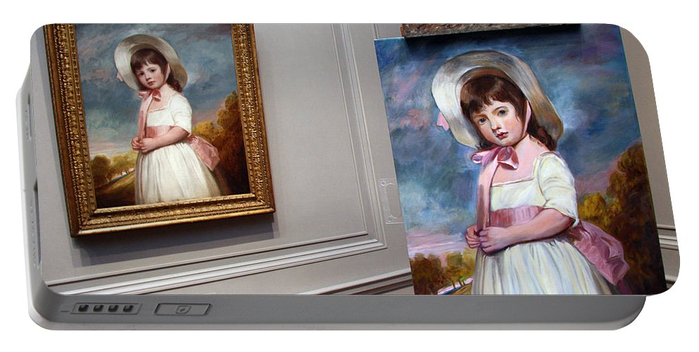 National Gallery Of Art Portable Battery Charger featuring the photograph A Painting Of A Painting by Cora Wandel