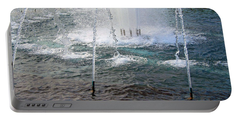 World Portable Battery Charger featuring the photograph A World War Fountain by Cora Wandel