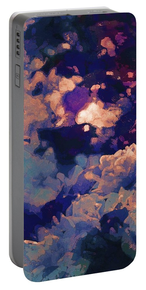 Abstract Portable Battery Charger featuring the photograph Abstract 277 by Pamela Cooper