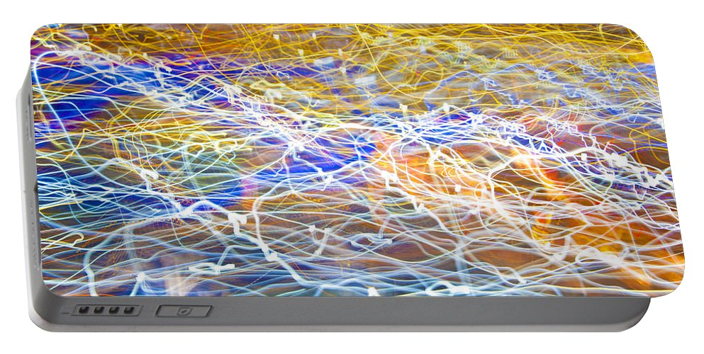 Light Portable Battery Charger featuring the photograph Abstract Background - Citylights At Night by Chevy Fleet