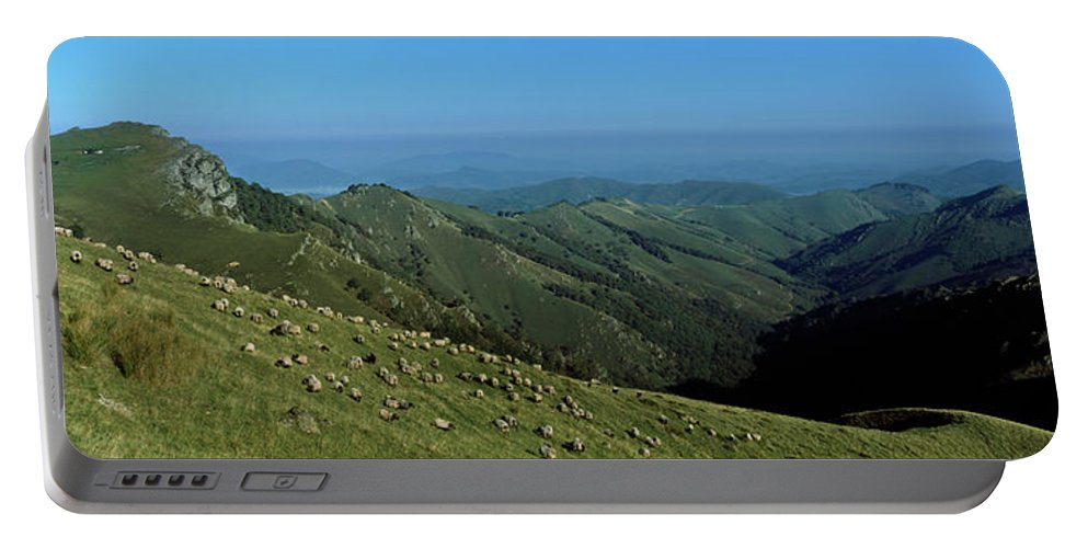 Photography Portable Battery Charger featuring the photograph Aerial View Of Mountain Range by Panoramic Images
