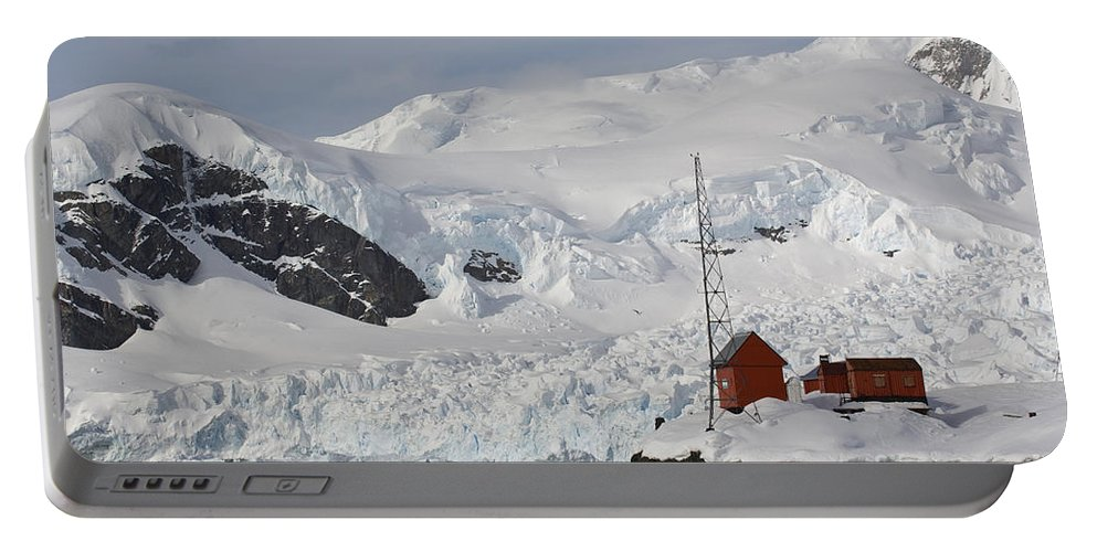 Almirante Brown Portable Battery Charger featuring the photograph Almirante Brown Research Station by John Shaw