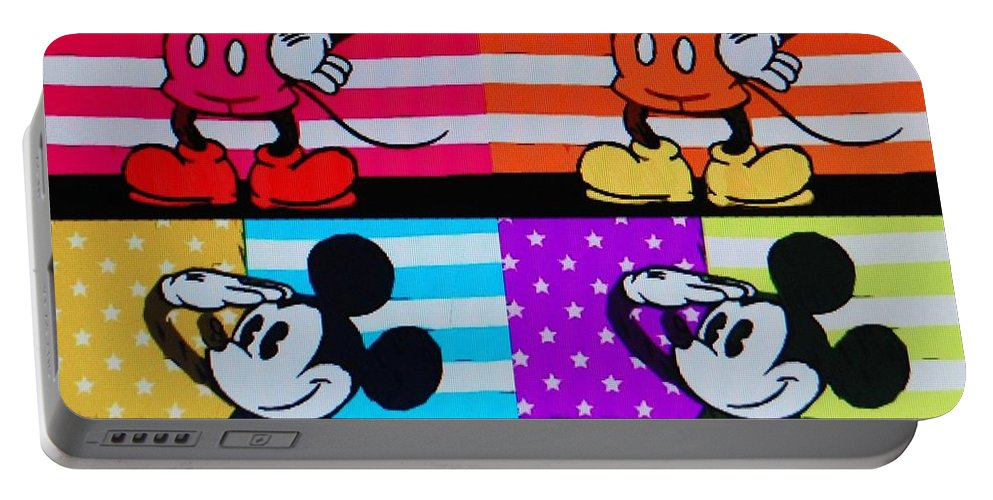 Mickey Mouse Portable Battery Charger featuring the photograph American Mickey by Rob Hans