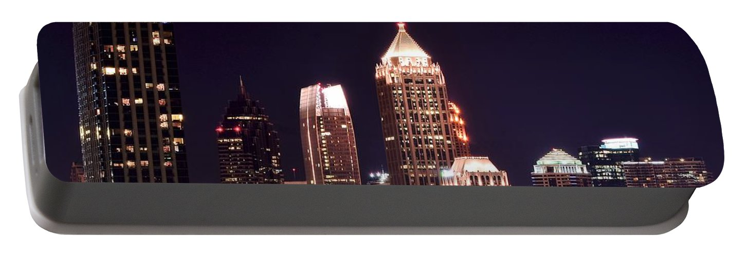 Atlanta Portable Battery Charger featuring the photograph Atlanta From Above by Frozen in Time Fine Art Photography