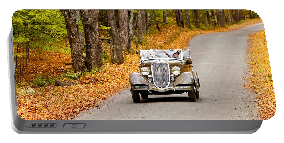 Touring Portable Battery Charger featuring the photograph Autumn Drive by Brian Jannsen