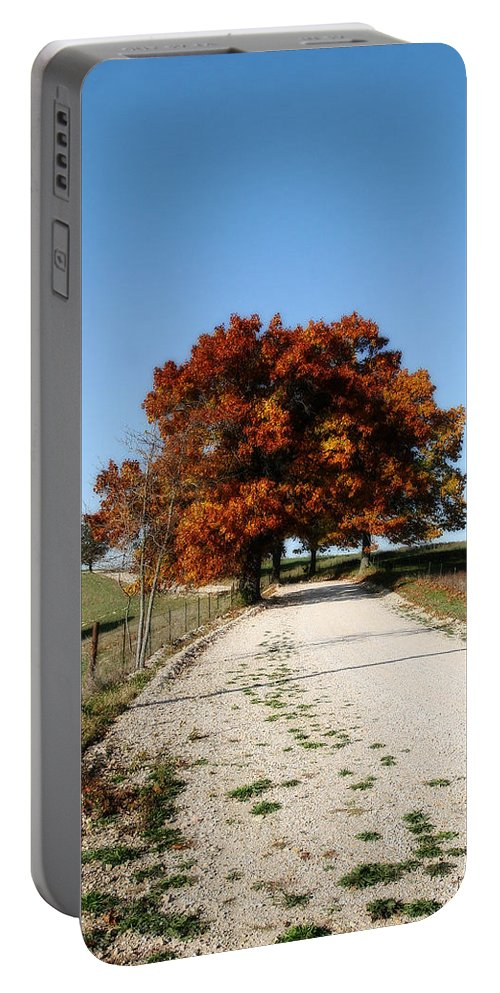 Autumn Portable Battery Charger featuring the photograph Autumn Drive by CE Haynes