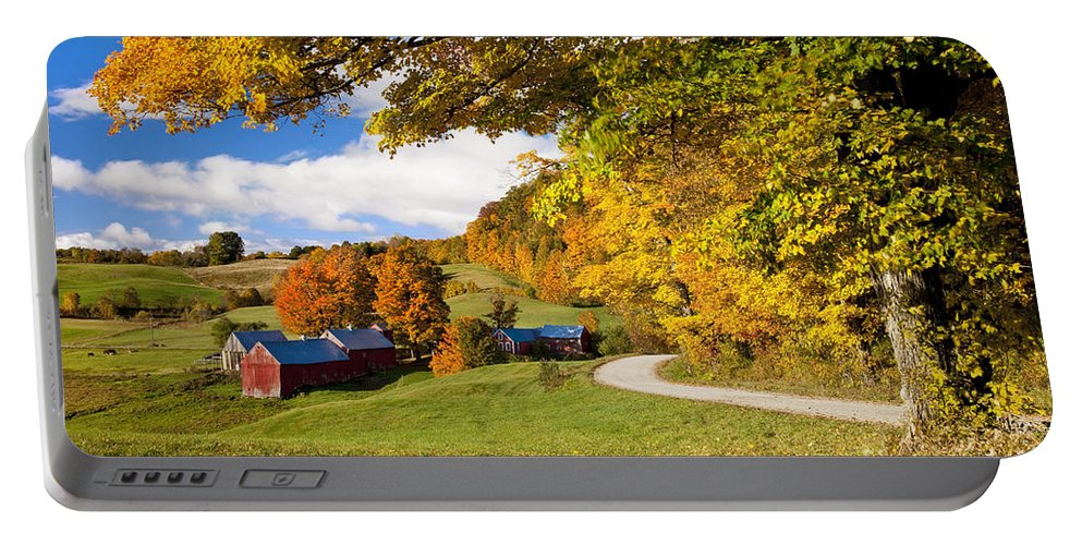 Autumn Portable Battery Charger featuring the photograph Autumn Farm by Brian Jannsen