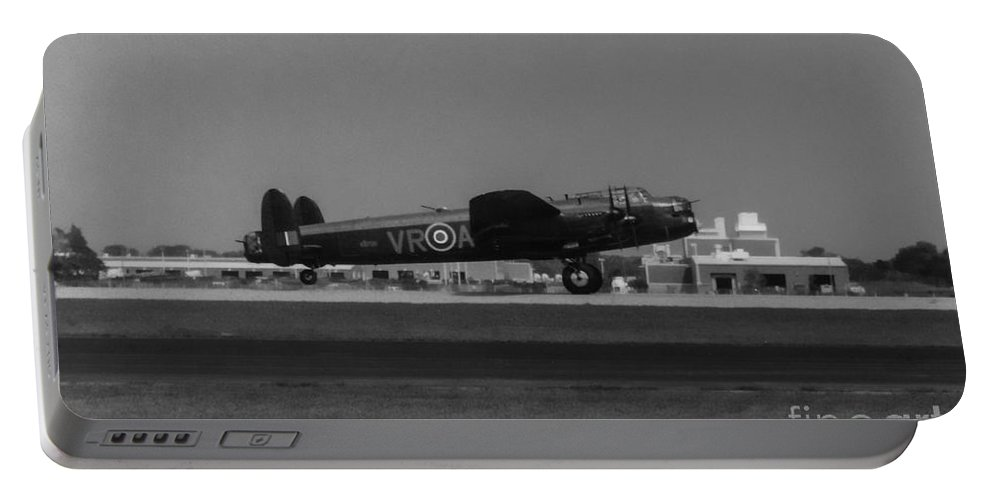 Raf Avro Lancaster Portable Battery Charger featuring the photograph Avro Lancaster by Tommy Anderson