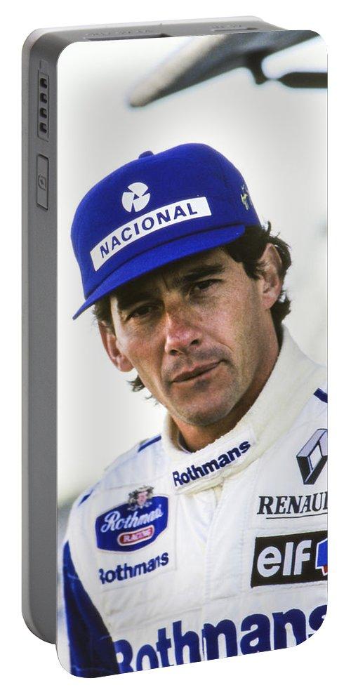 Ayrton Portable Battery Charger featuring the photograph Ayrton Senna by Jose Bispo