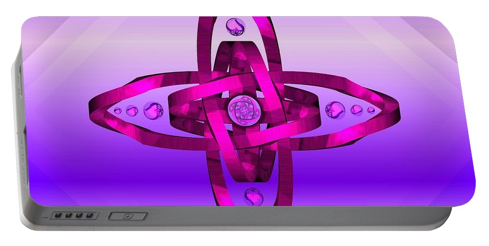 Portable Battery Charger featuring the digital art Balance And Harmony - Purple by David Voutsinas
