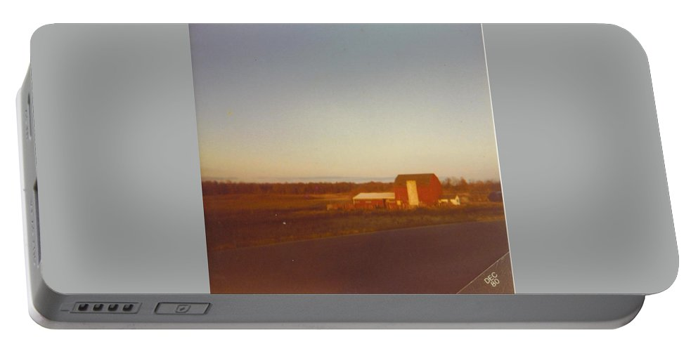Michigan Barns And Landscape Portable Battery Charger featuring the photograph Barn And Landscape by Robert Floyd
