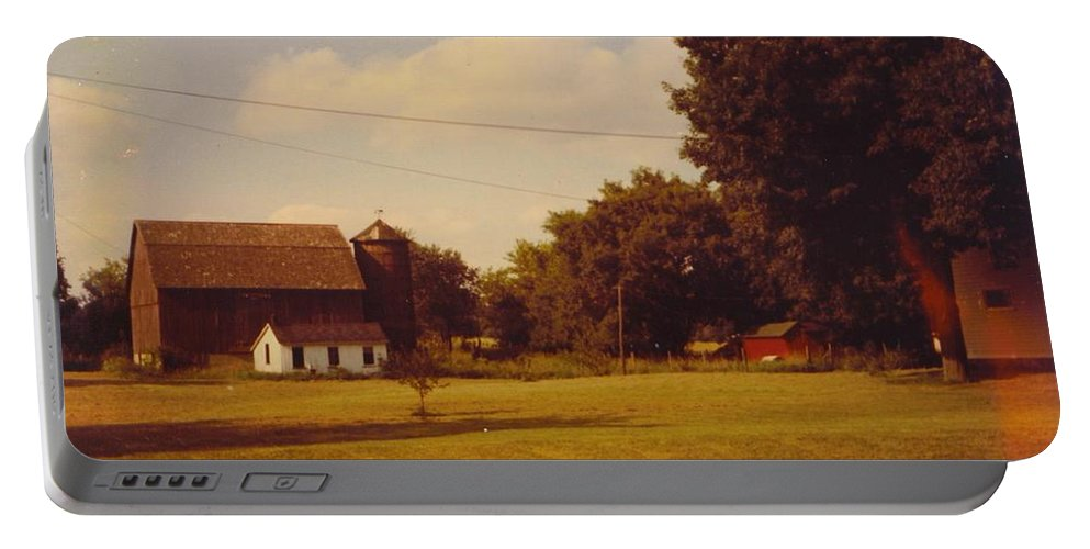 Michigan Barns And Landscape Portable Battery Charger featuring the photograph Barns And Landscape by Robert Floyd