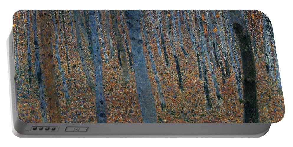 Gustav Klimt Portable Battery Charger featuring the painting Beech Grove I by Gustav Klimt