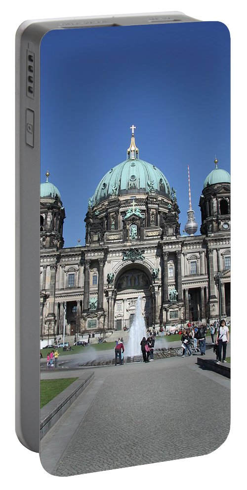 Cathedral Portable Battery Charger featuring the photograph Berliner Dom by Christiane Schulze Art And Photography
