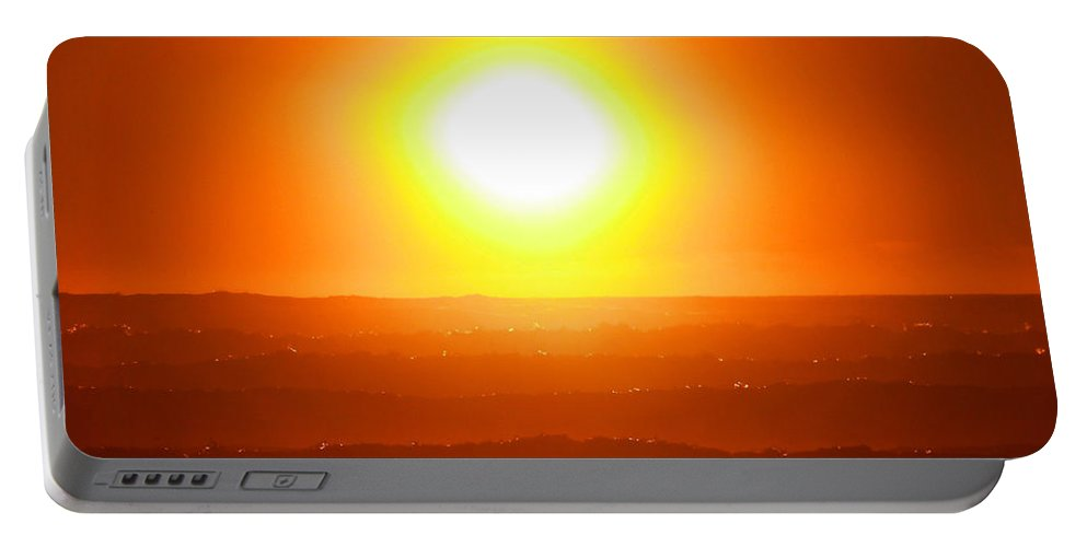 Sun Portable Battery Charger featuring the photograph Blinded By The Light by Steve Taylor