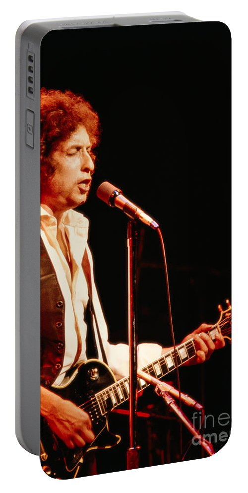 Bob Dylan Portable Battery Charger featuring the photograph Bob Dylan '79 by Tracy Knauer