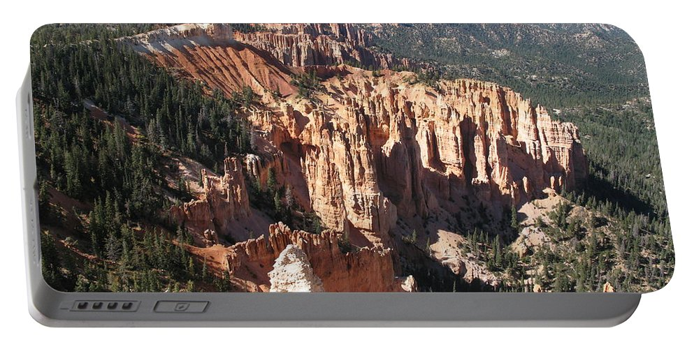 Mountains Portable Battery Charger featuring the photograph Bryce Canyon Overlook by Christiane Schulze Art And Photography
