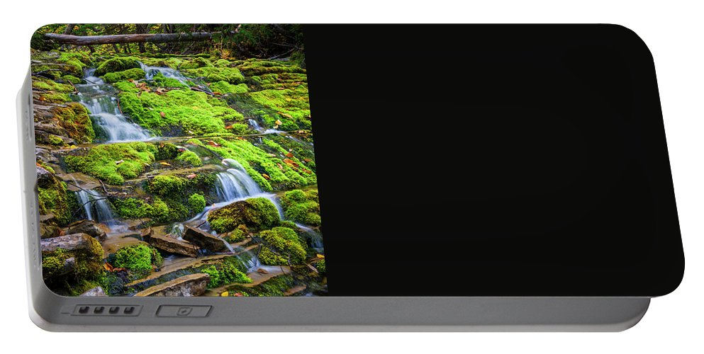 Waterfall Portable Battery Charger featuring the photograph Cascading Waterfall by Elena Elisseeva