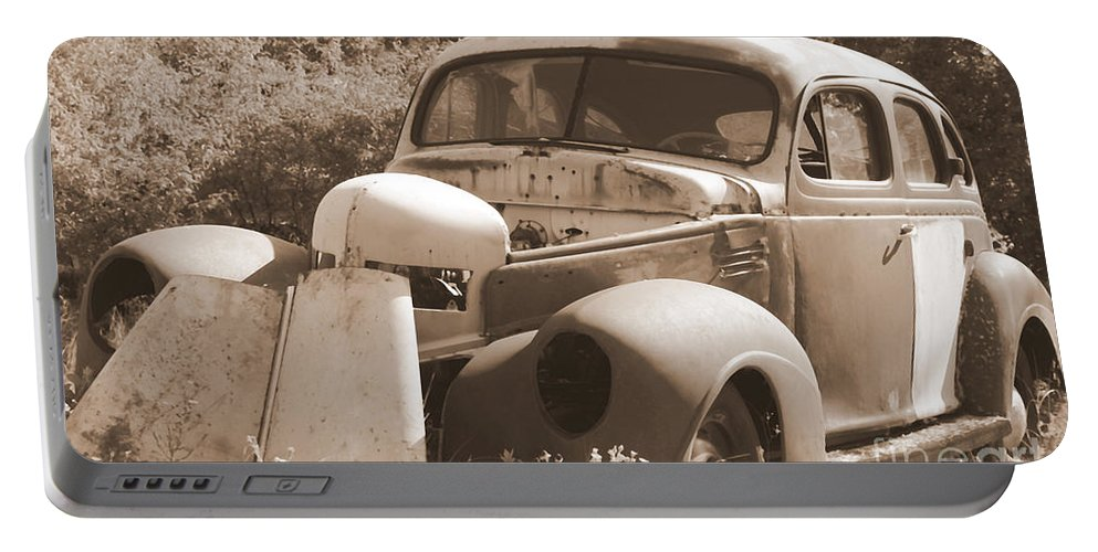 Man Made Portable Battery Charger featuring the photograph Chevrolet Rust Bucket by Glenn Aker
