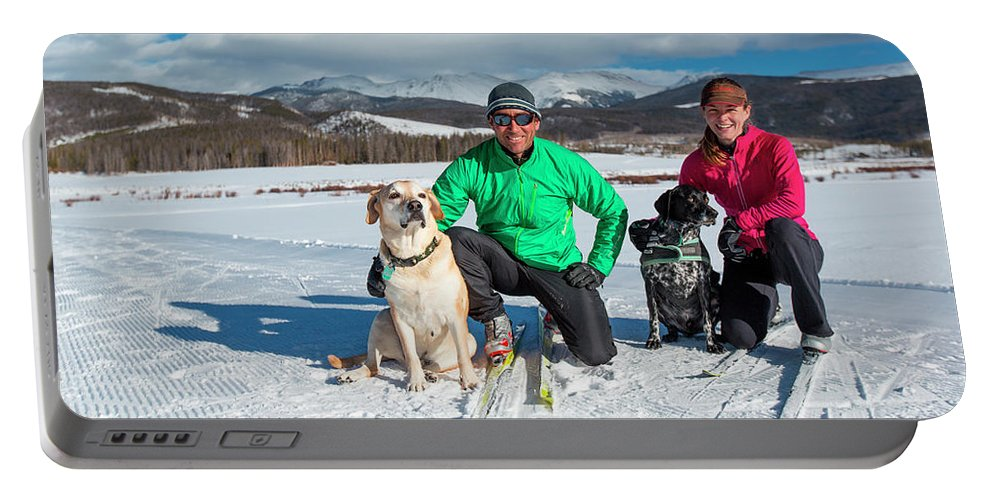 30-34 Years Portable Battery Charger featuring the photograph Colorado Cross Country Skiing by Sam Wells